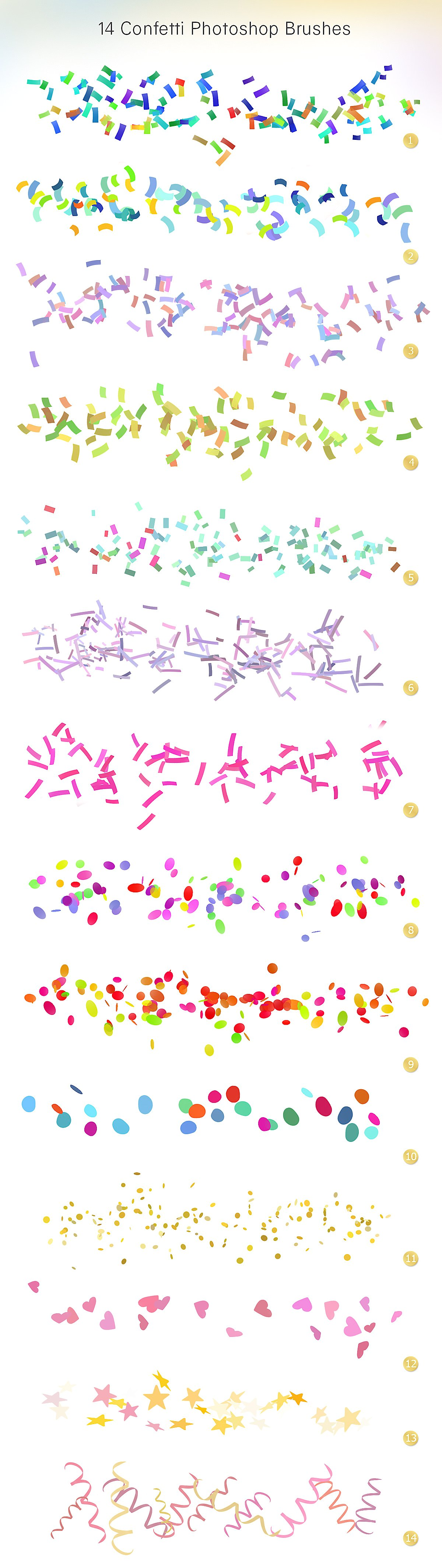 Confetti overlays  PS brushes example image 7