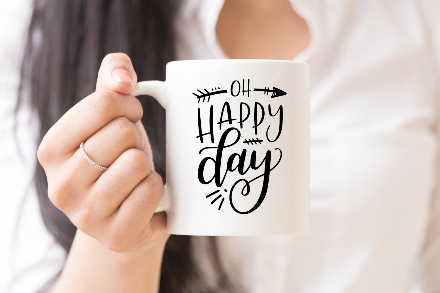 Cut File, Oh Happy Day SVG example image 2