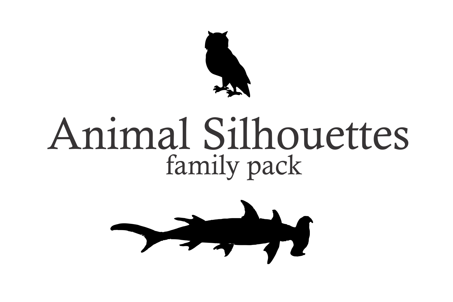 Animal Silhouettes (pack) example image 2
