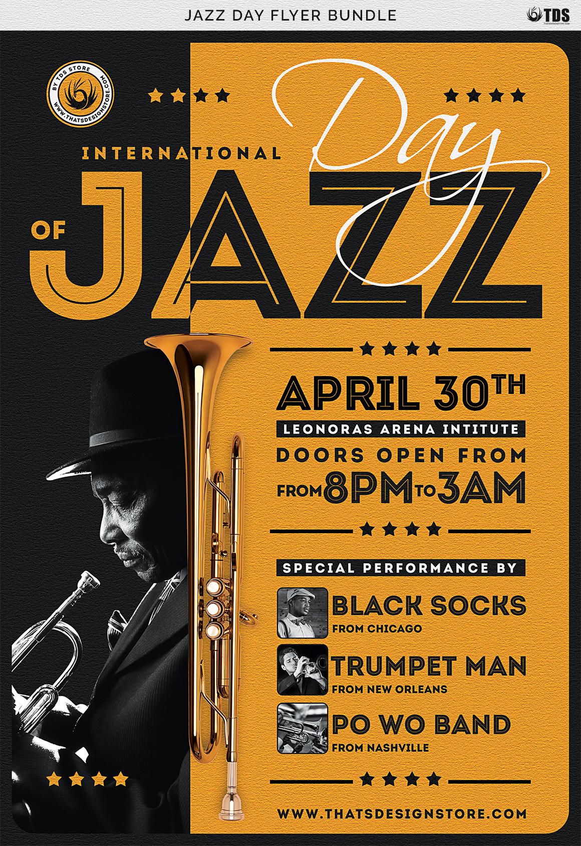 Jazz Day Flyer Bundle example image 10