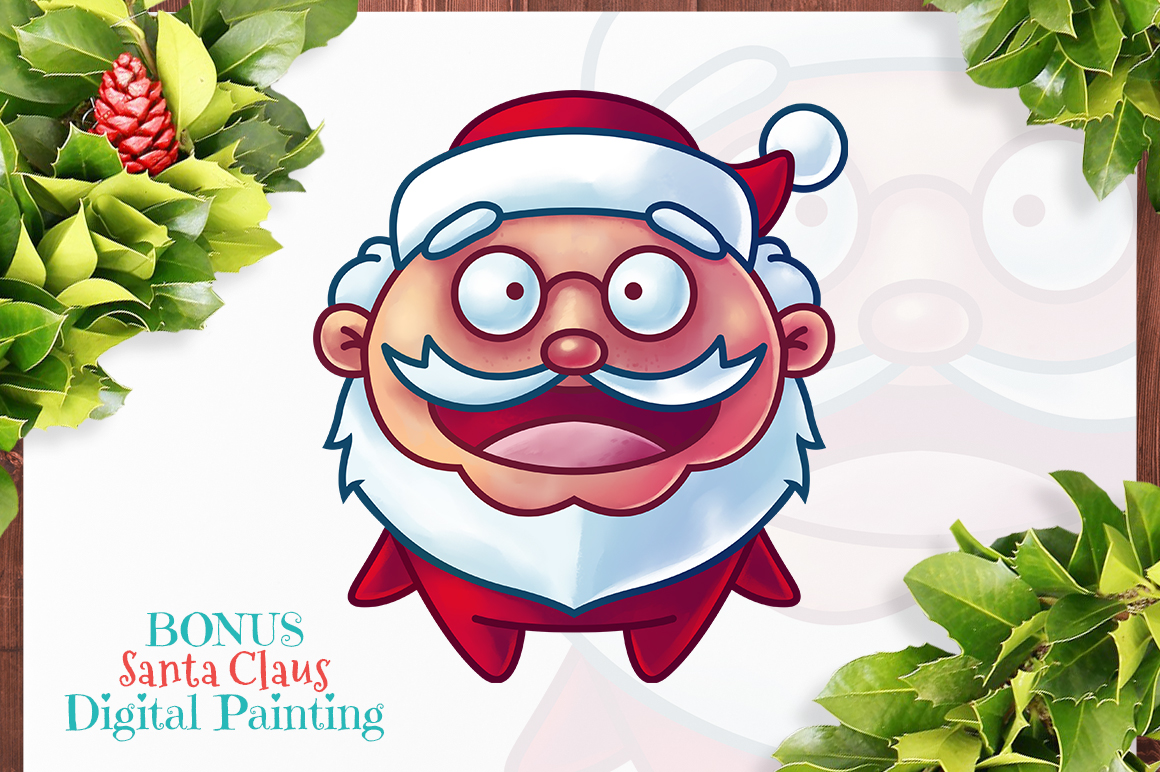 Cute Flat Christmas Characters Vol.1 example image 3