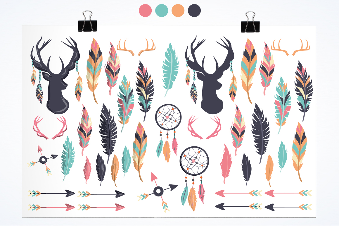 Feathers graphic and illustrations example image 4