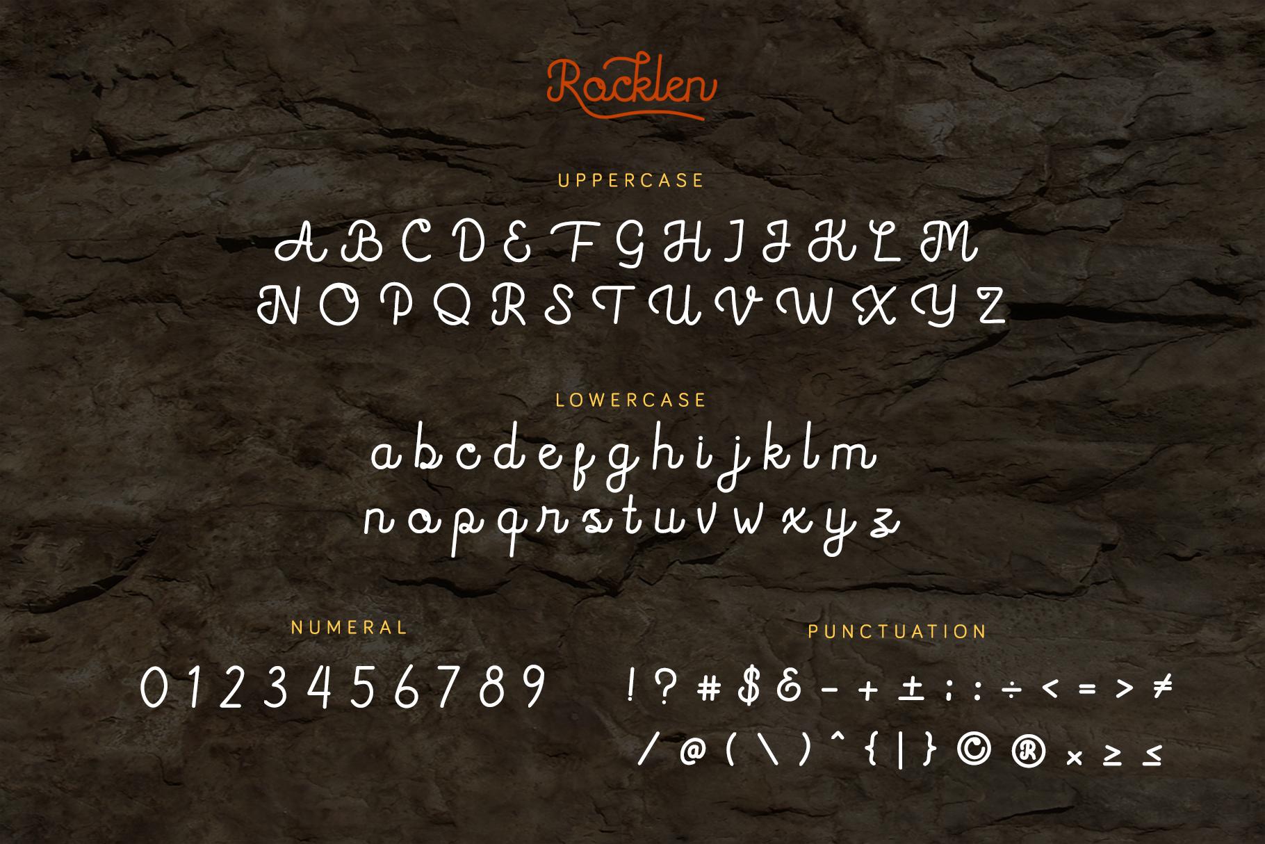 Rocklen Monoline Script example image 5