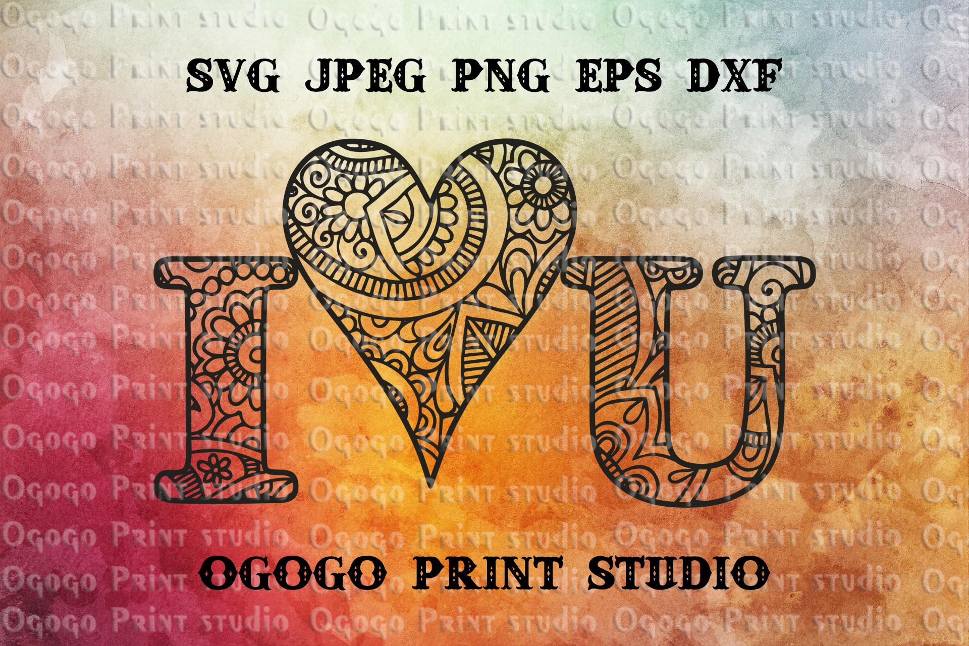 Love svg, Valentines day SVG, Zentangle SVG, Mandala svg example image 1