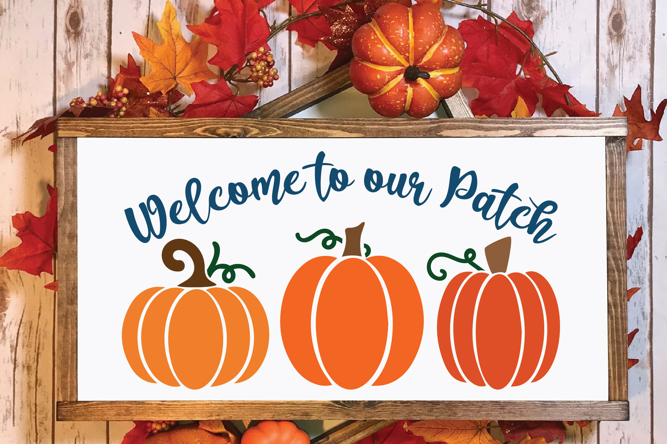 Welcome to our Patch SVG Cut File - Fall Pumpkin SVG example image 2