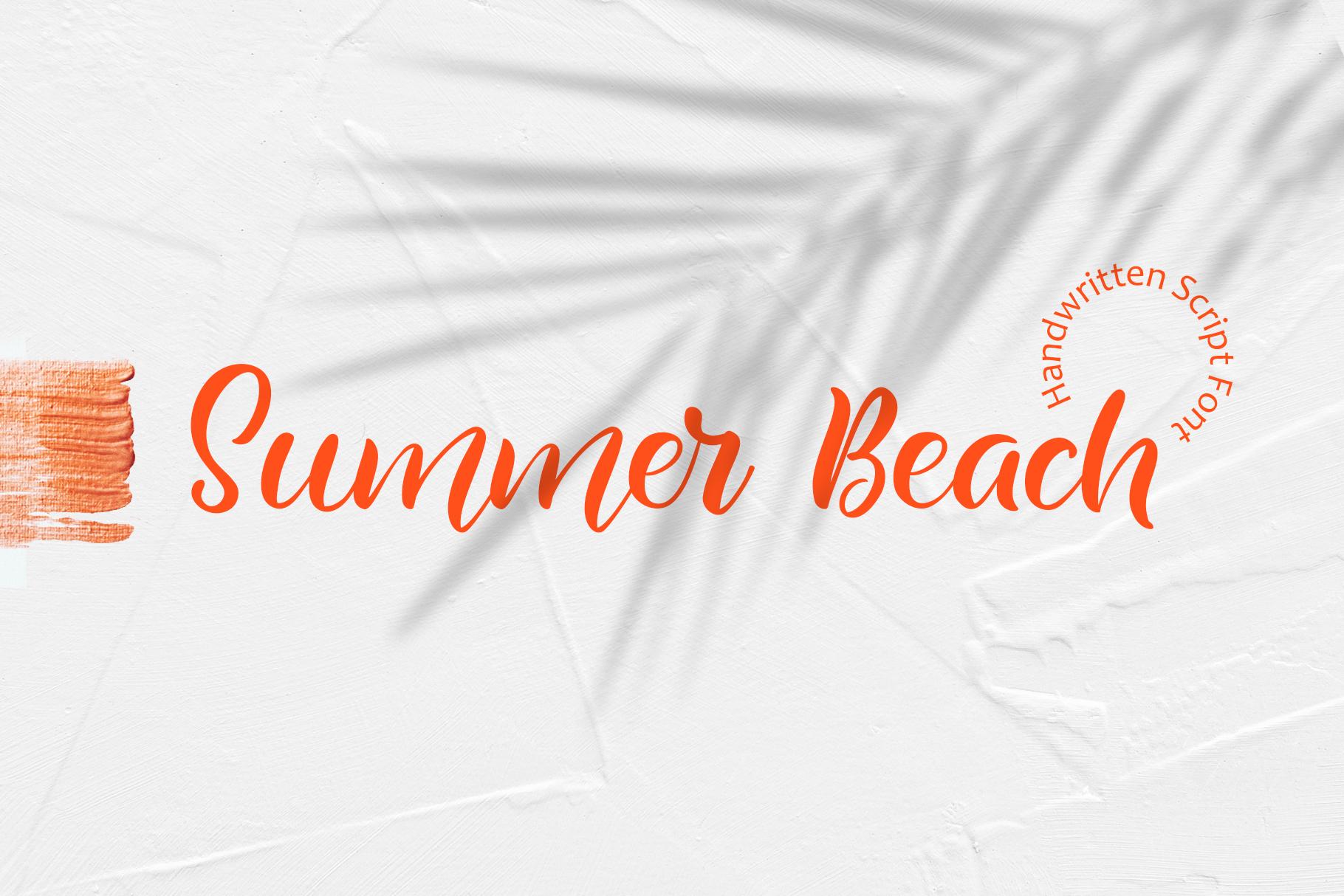 Summer Beach Handwriting Font example image 2