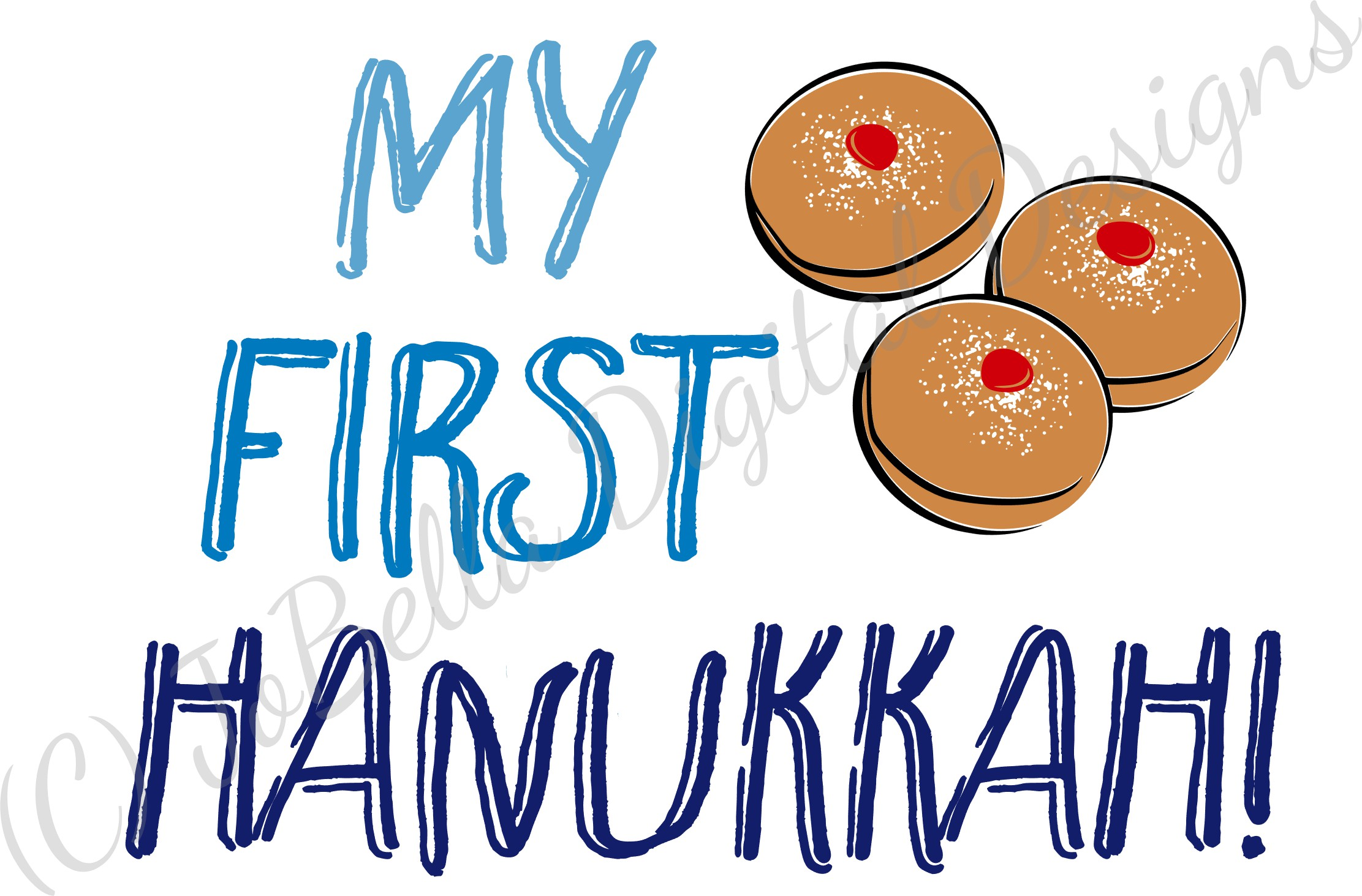 My First Hanukkah SVG, Printable and Sublimation PNG example image 2