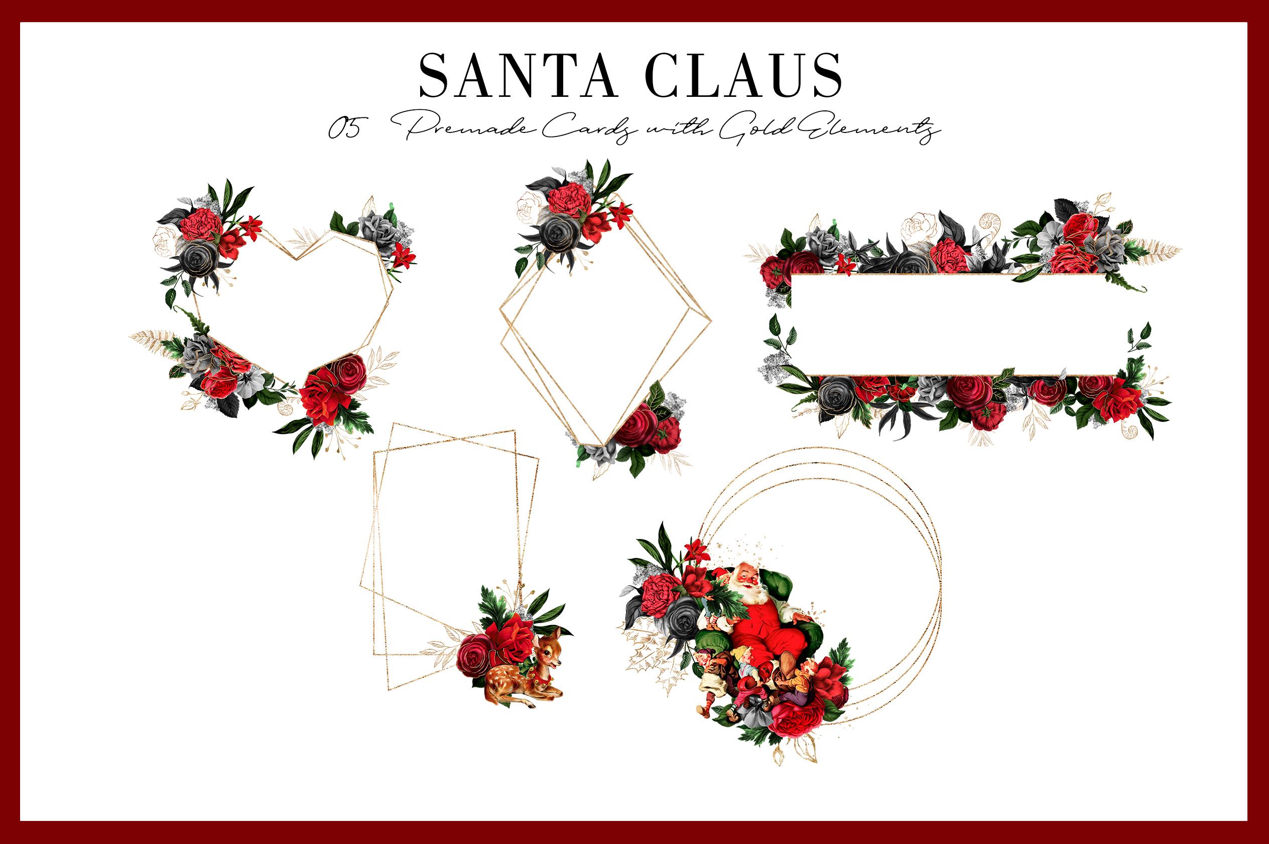 Santa Claus | 54 Clipart Elements example image 6