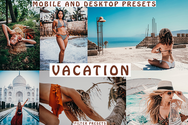 VACATION 5 Lightroom Mobile Desktop Presets example image 1