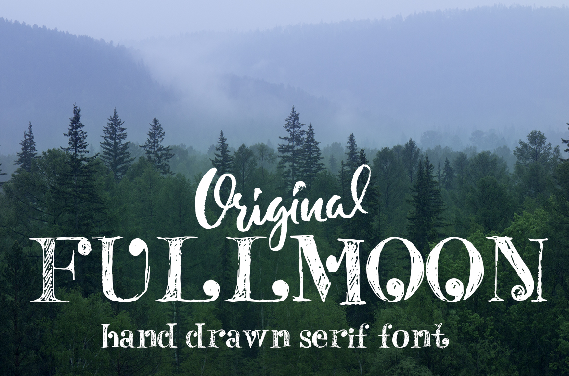 Fulmoon serif font example image 1