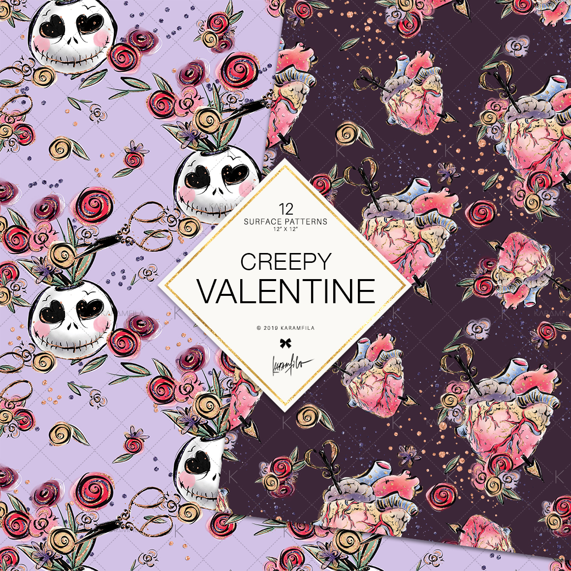 Creepy Valentine's Day Patterns example image 5