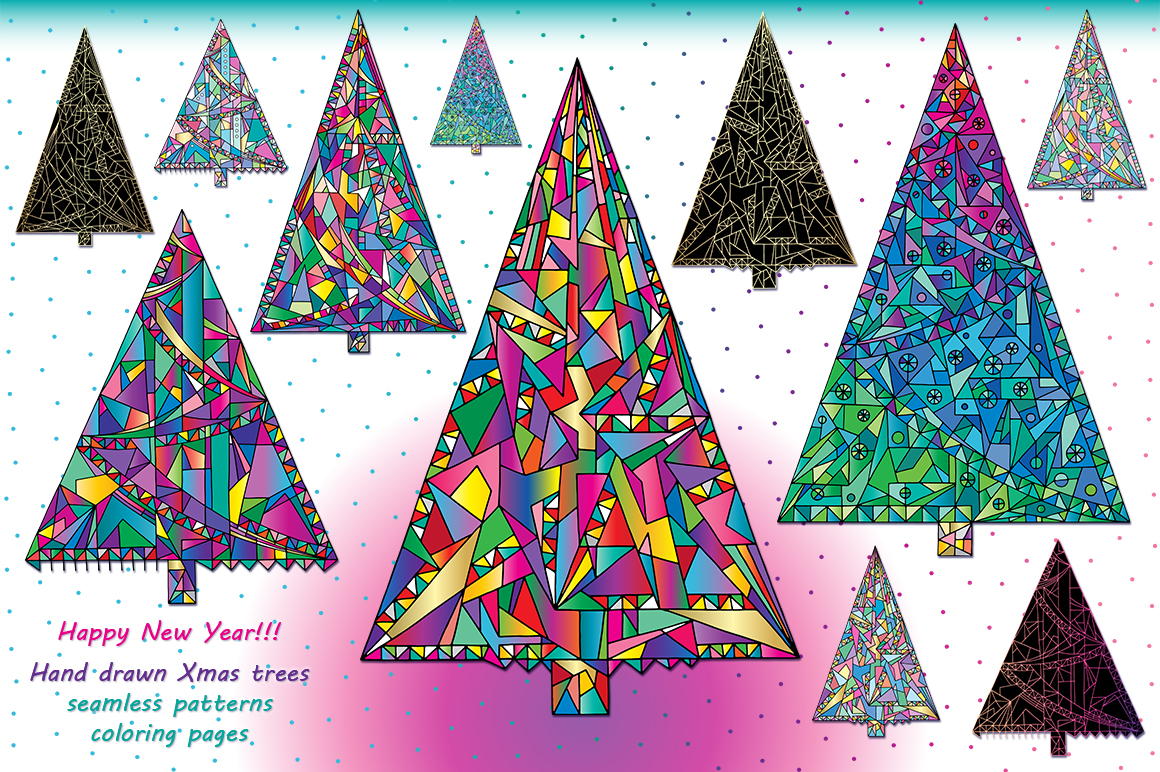Happy New Year! Christmas trees! example image 1