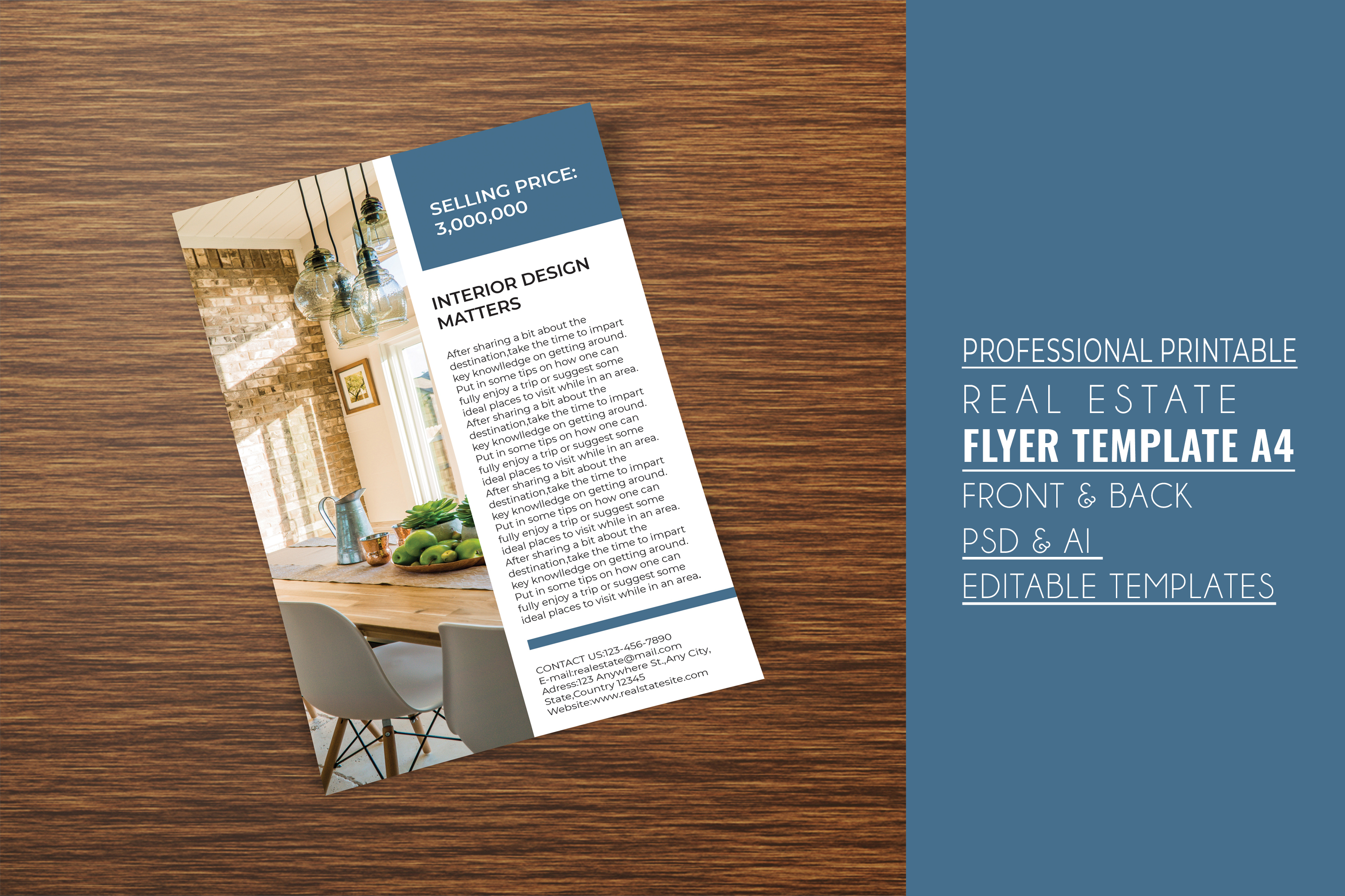 Professional Real Estate Flyer A4 - Printable Templates example image 6