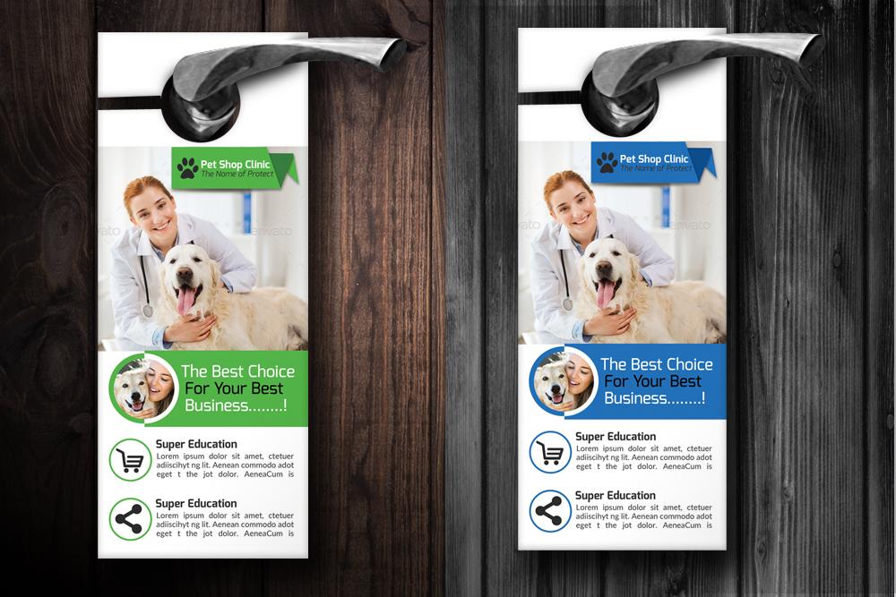 Pet Clinic Door Hangers example image 2
