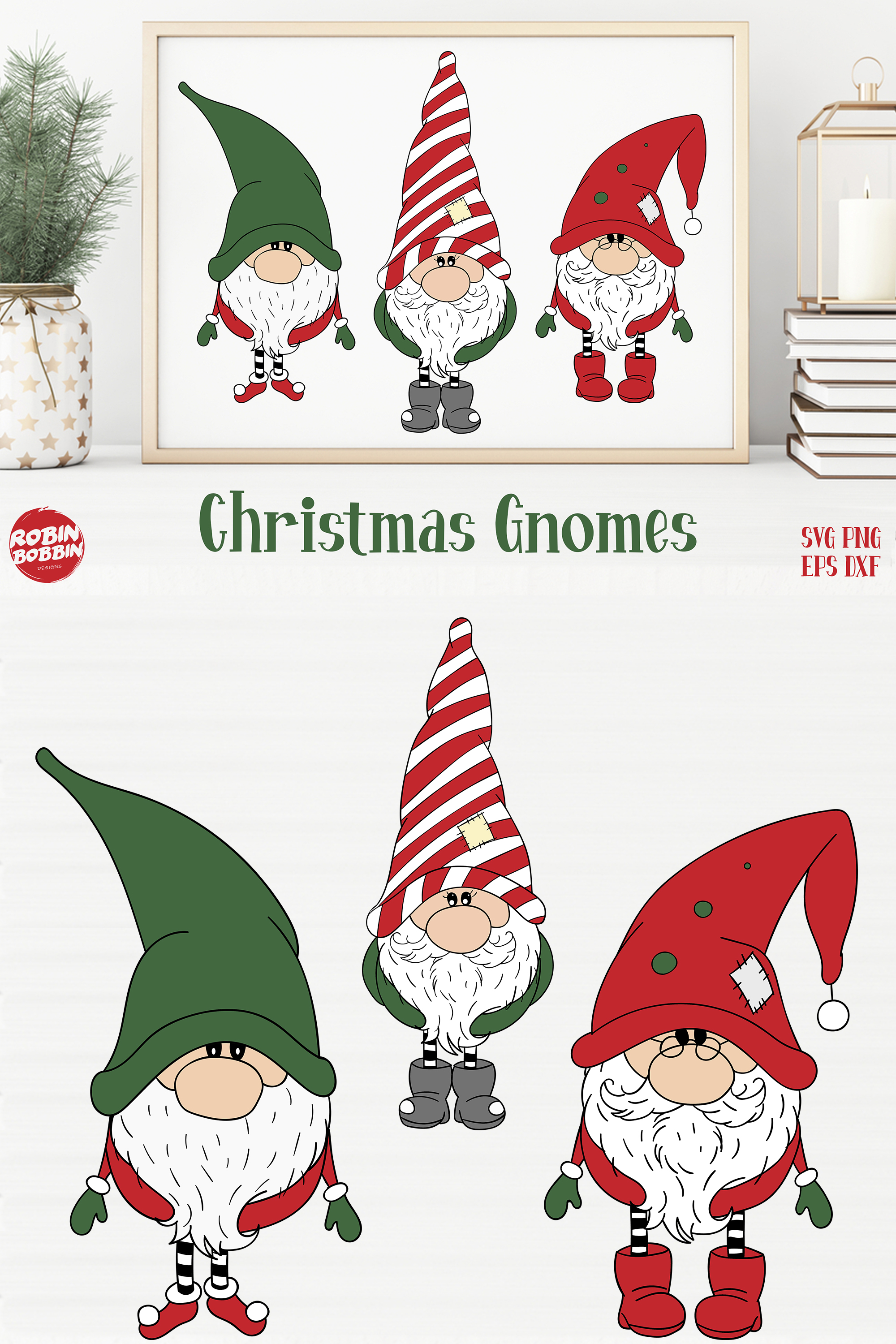 Download Christmas Gnomes SVG