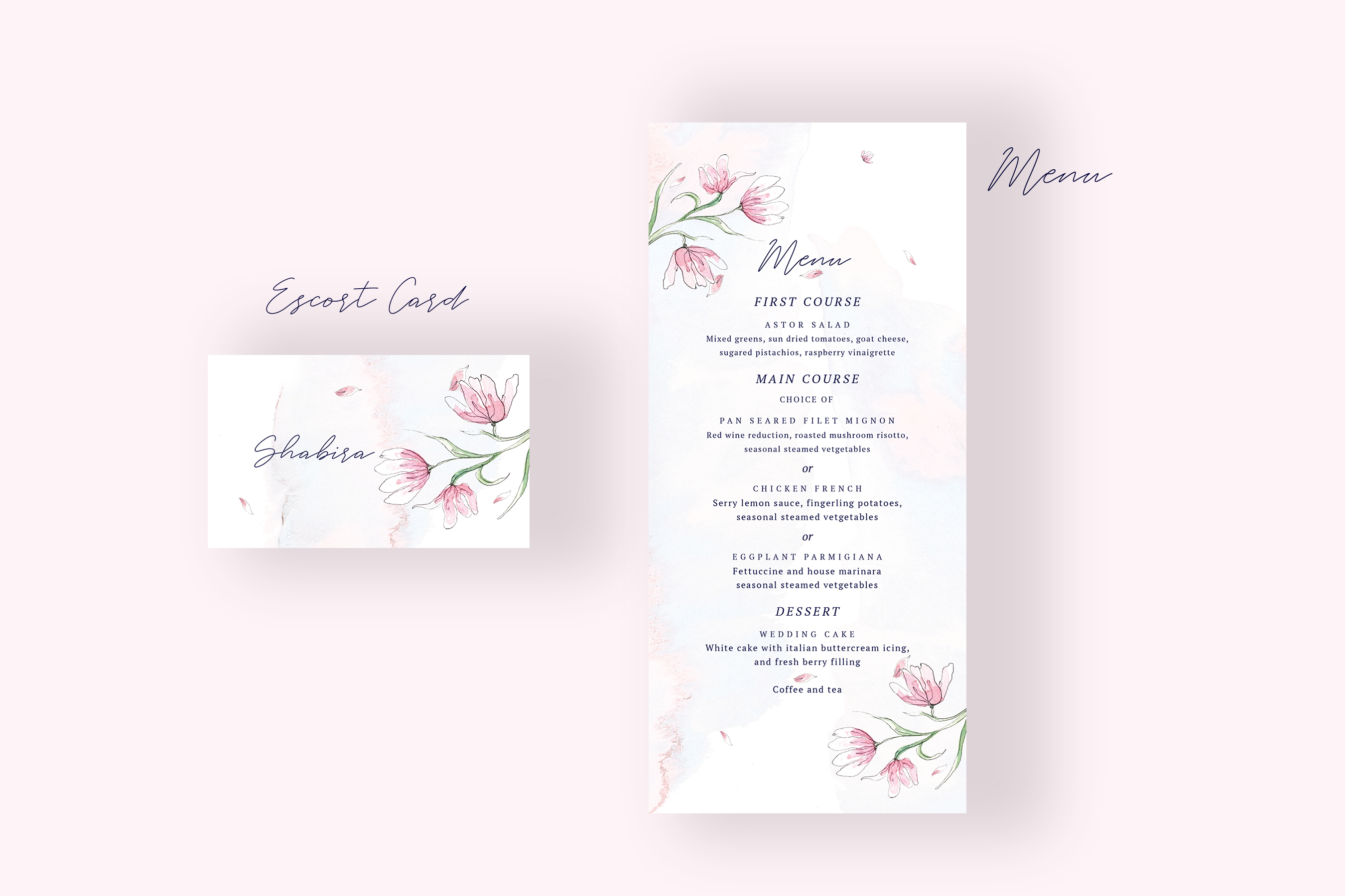 Pink Floral Wedding Invitation Suite example image 3
