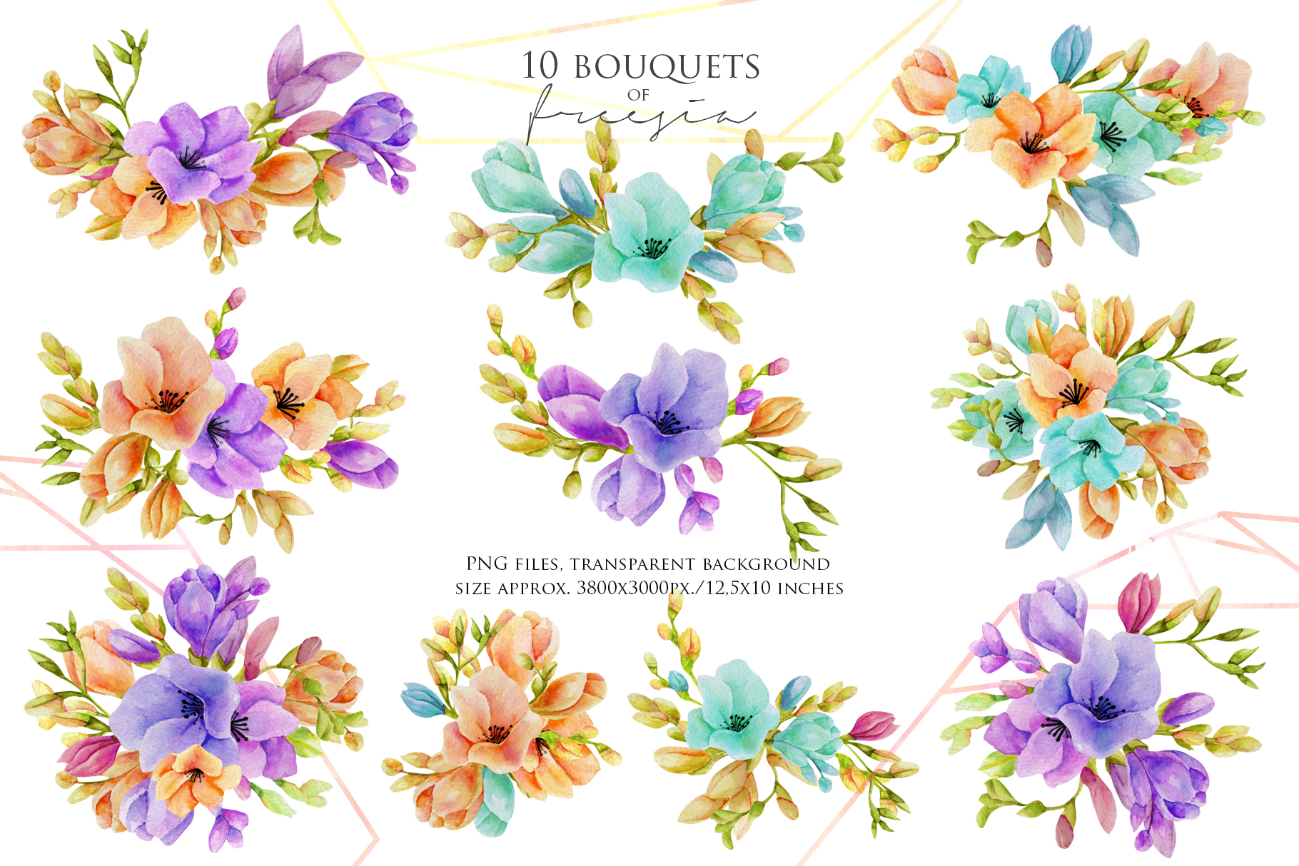 Freesia. 10 bouquets example image 2