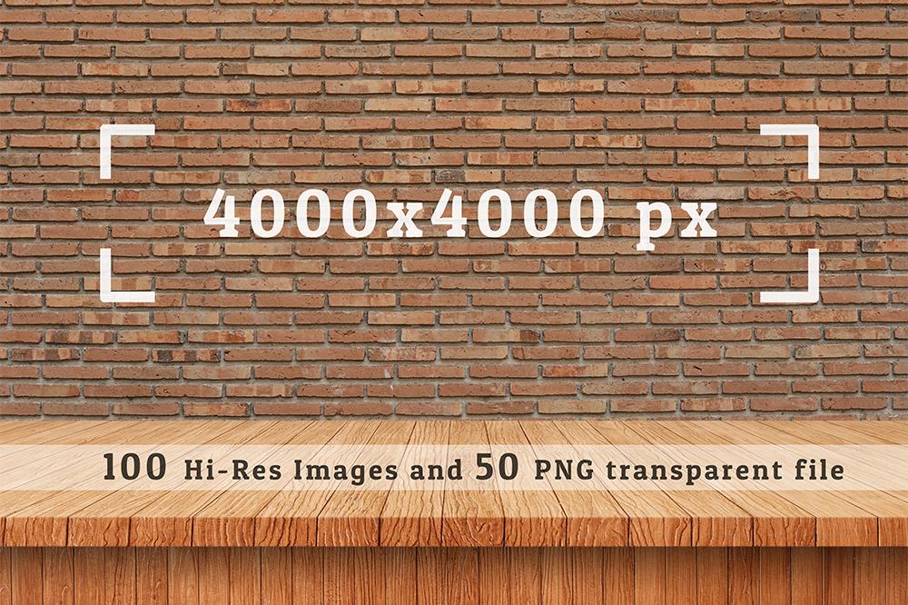 100 Realistic Shelves on Wall. Set 2 example image 4