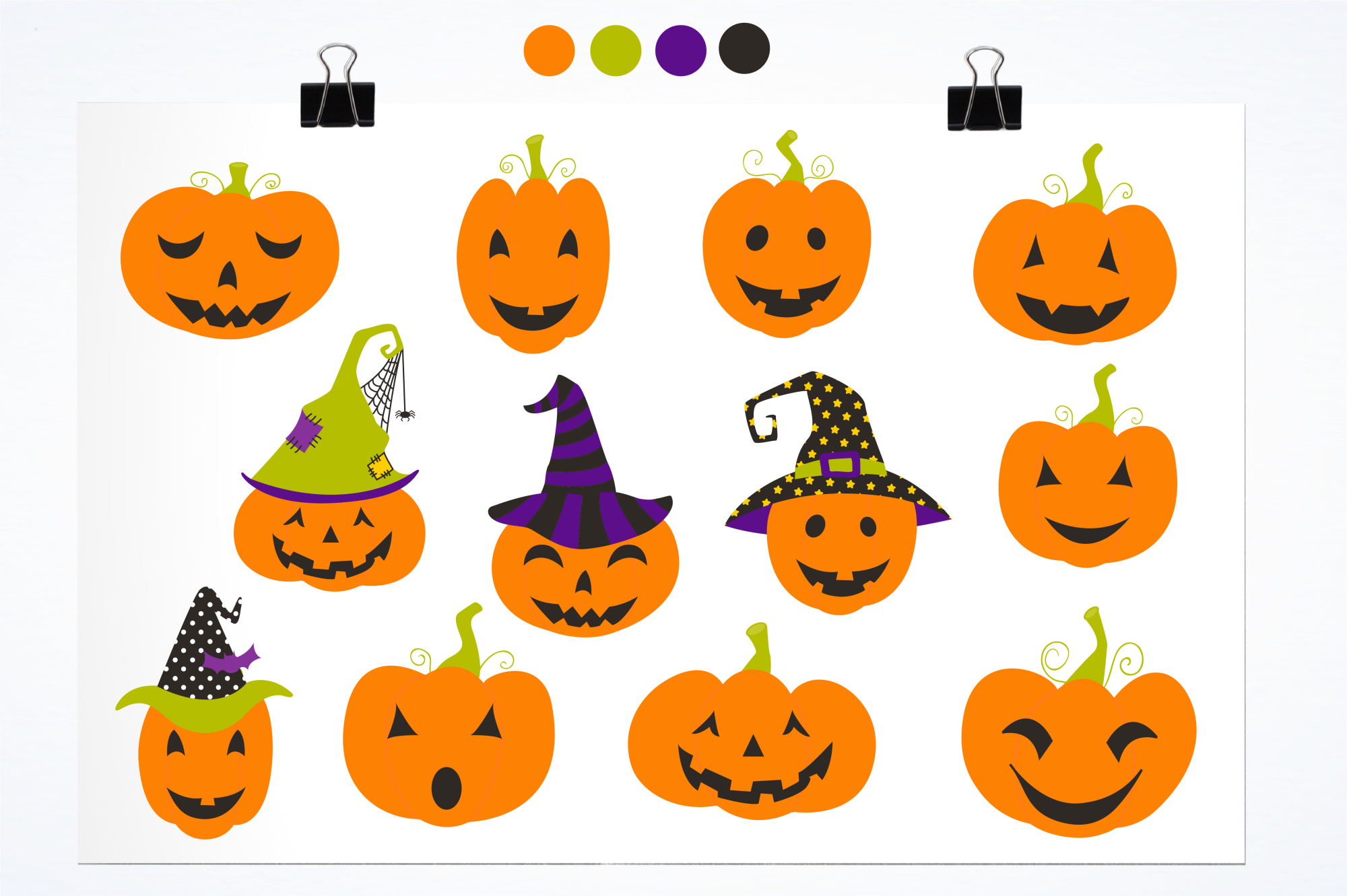 Jack O' Lanterns graphics and illustrations example image 2