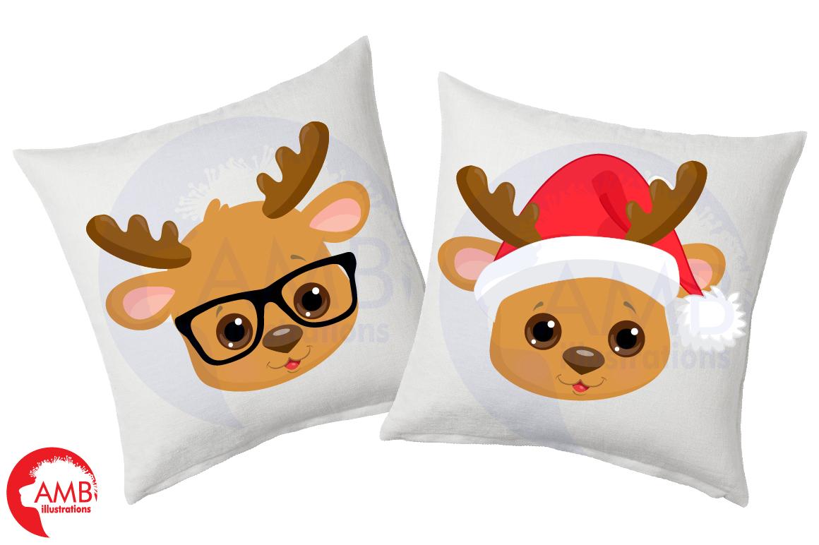 Reindeer clipart, reindeer emojis, emoticons,AMB-2696 example image 4