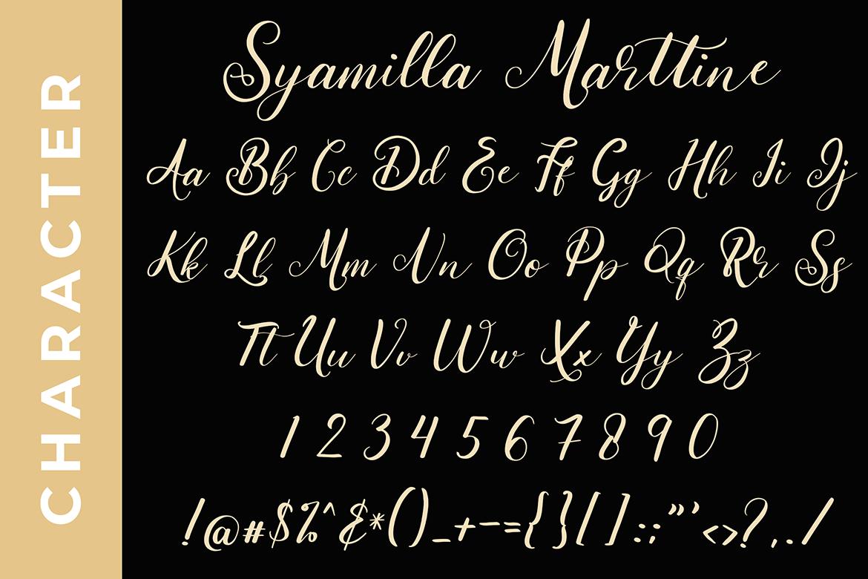 Syamilla Marttine Calligraphy Font example image 2