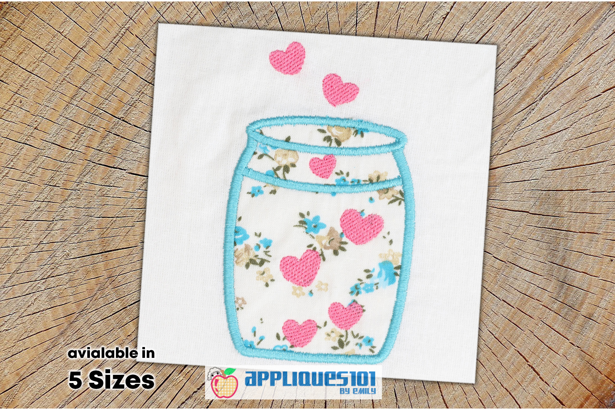 Spread Love and Envision Embroidery Applique Design - Love example image 1