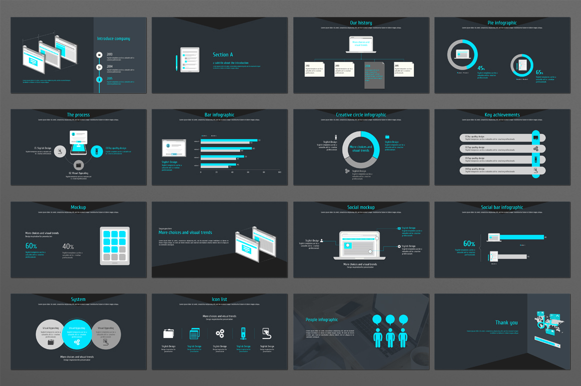 Web Design PowerPoint Template example image 4