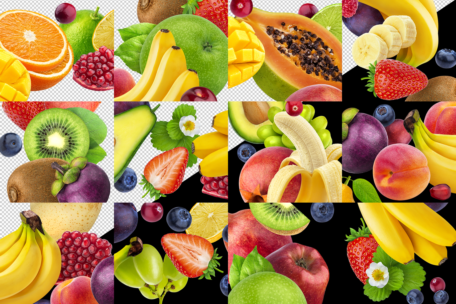 Fruits and berries alphabet, healthy alphabet example image 4