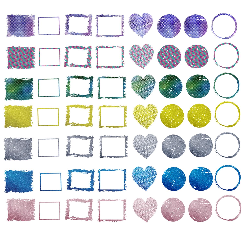 Backsplash Frames Bundle for Sublimation - 728 PNG Designs example image 6