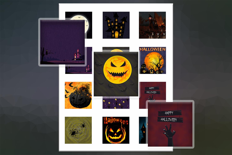 Halloween, Halloween Digital Collage,2x2,1.5x1.5,1x1 inch example image 2