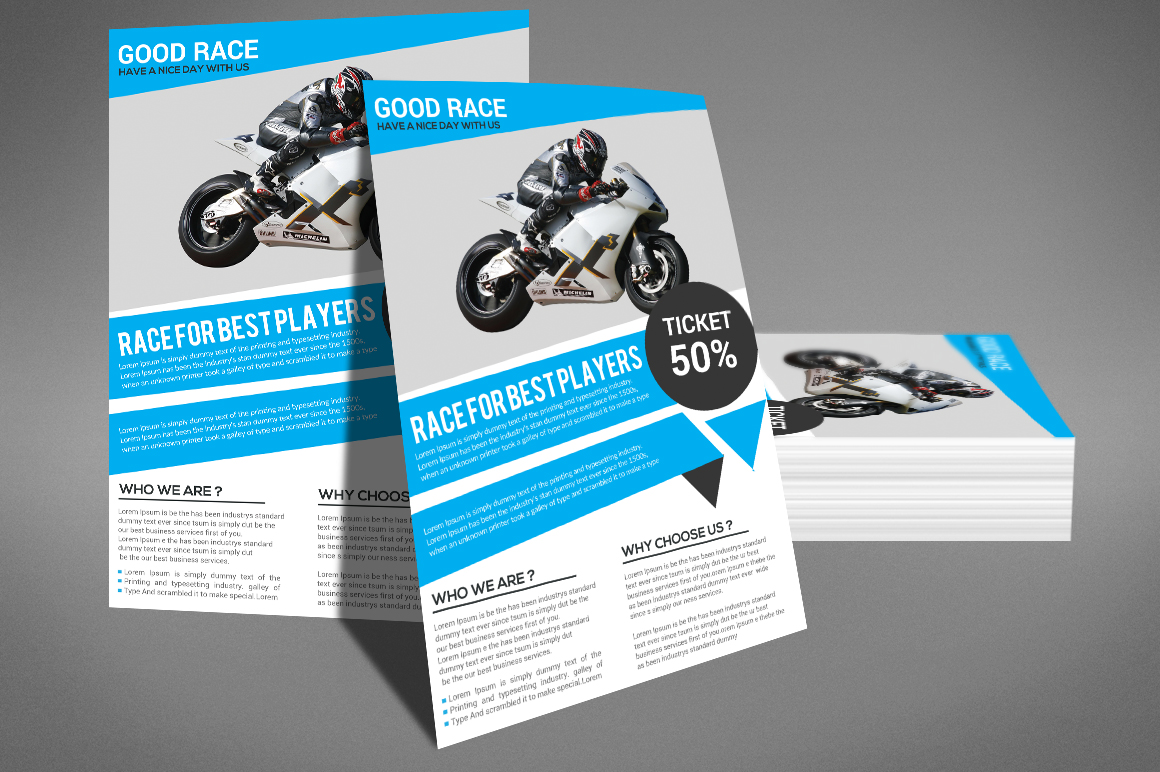Motor Cycle Flyer example image 2