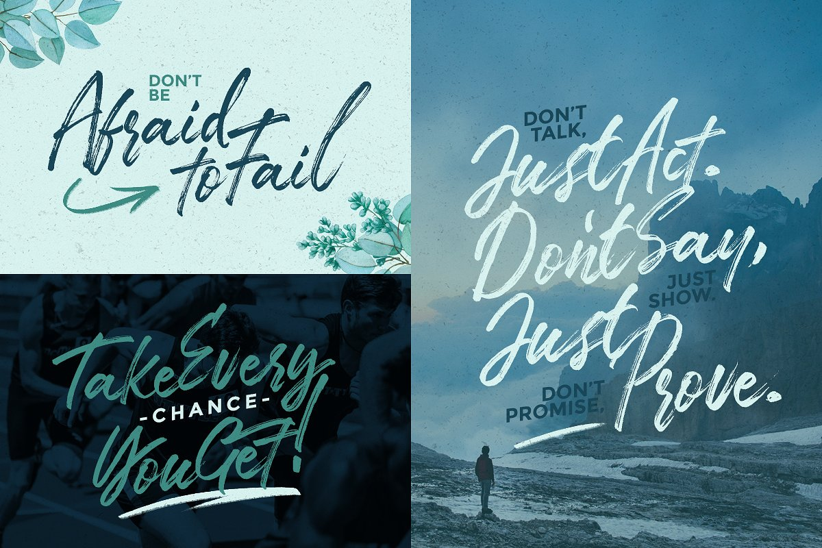 TakeEasy Brush Font example image 5