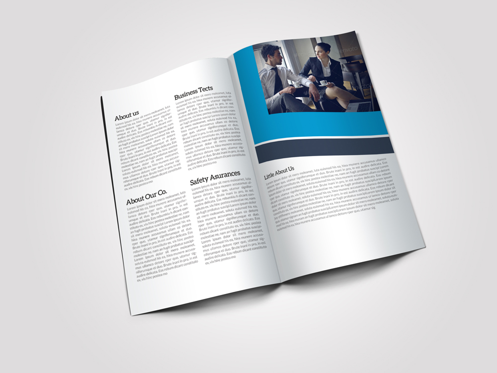 8 Pages Business Corporate Bifold Brochure example image 4