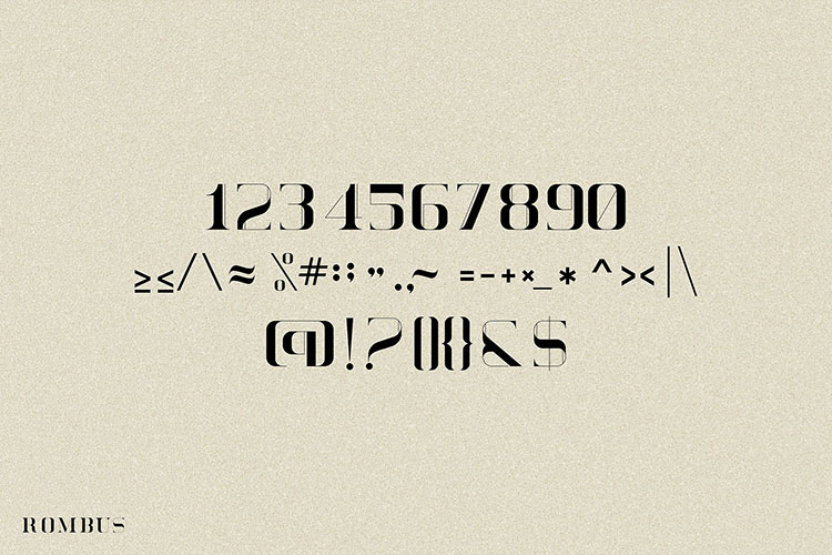 Rombus Modern Serif Font example image 6
