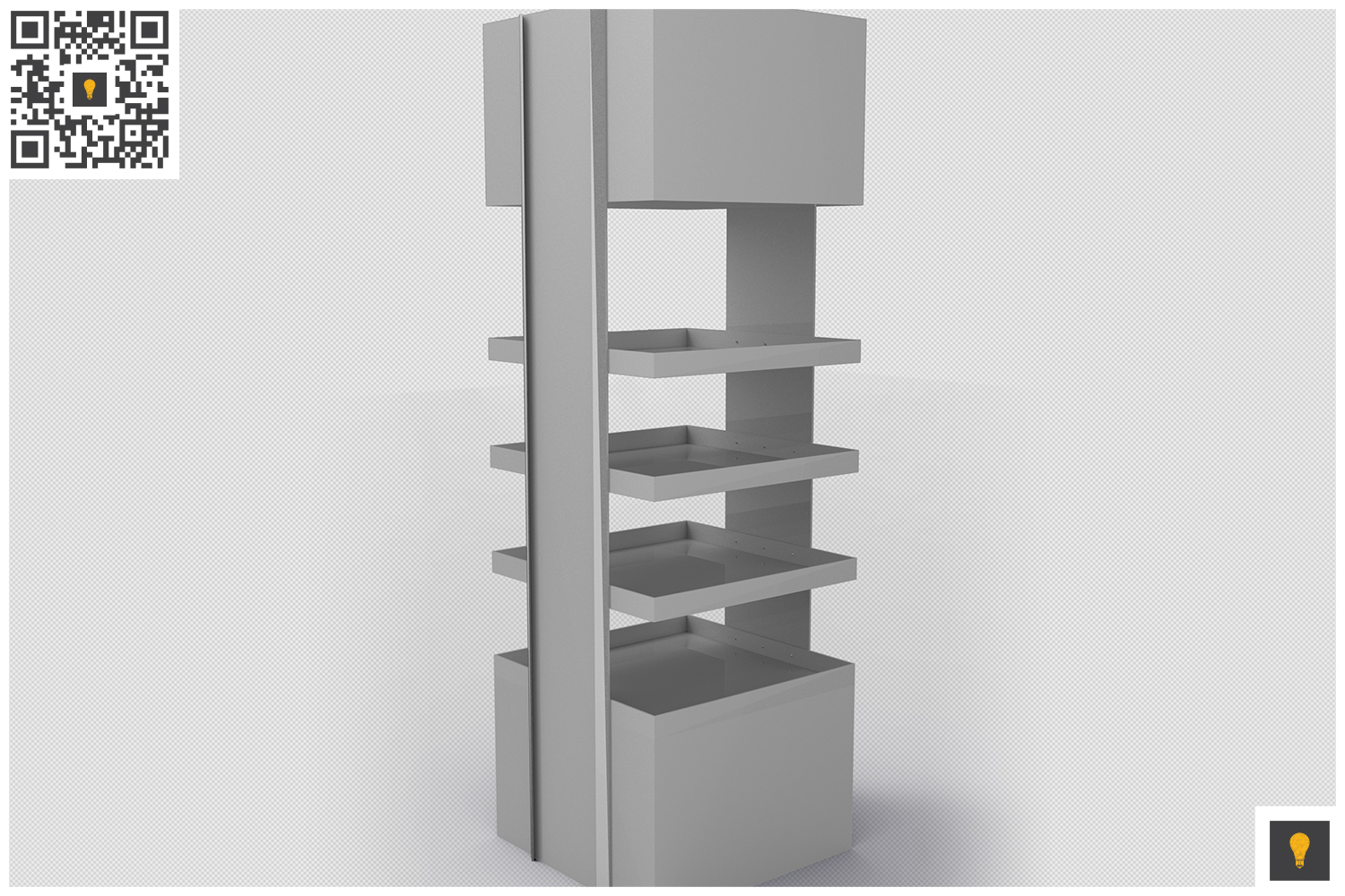 Promotional Store Shelf Stand 3D Render example image 7