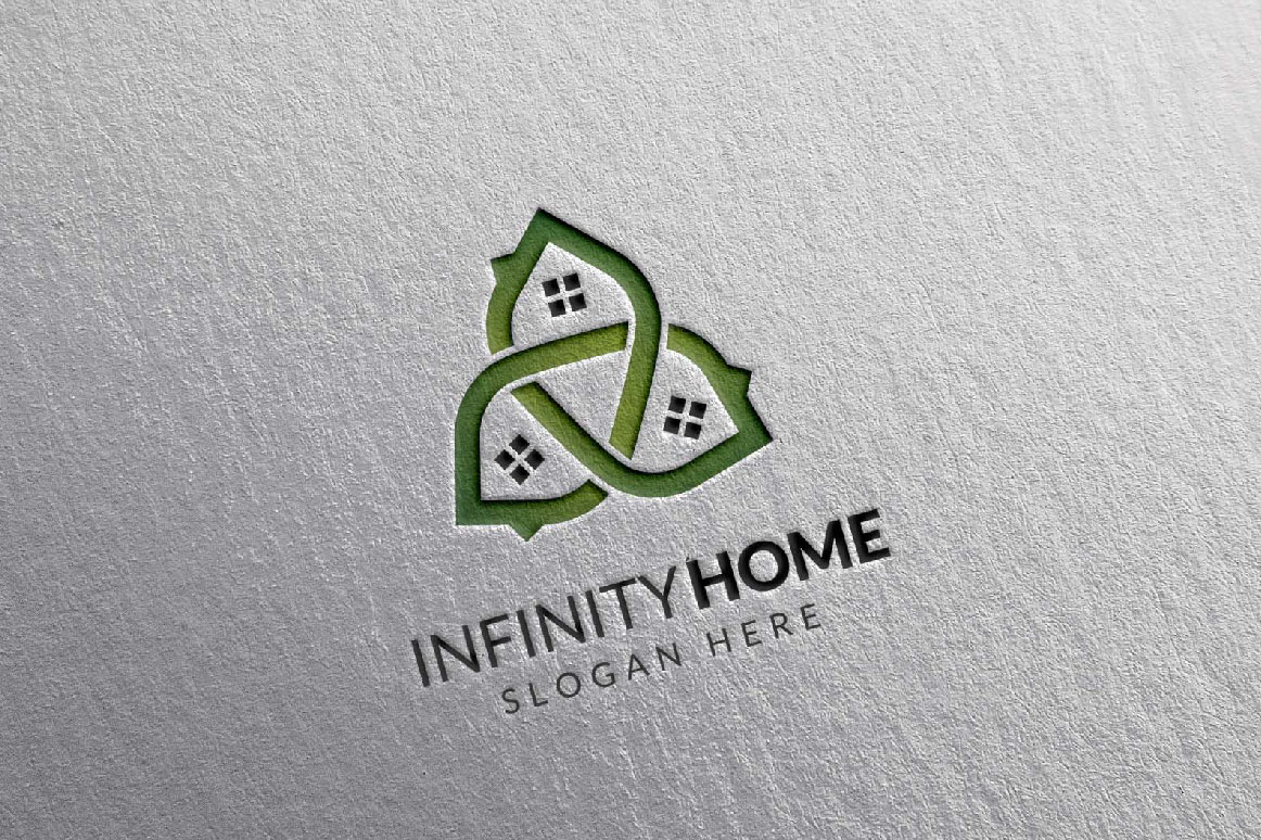 Real Estate Logo, Infinity Home Logo example image 6