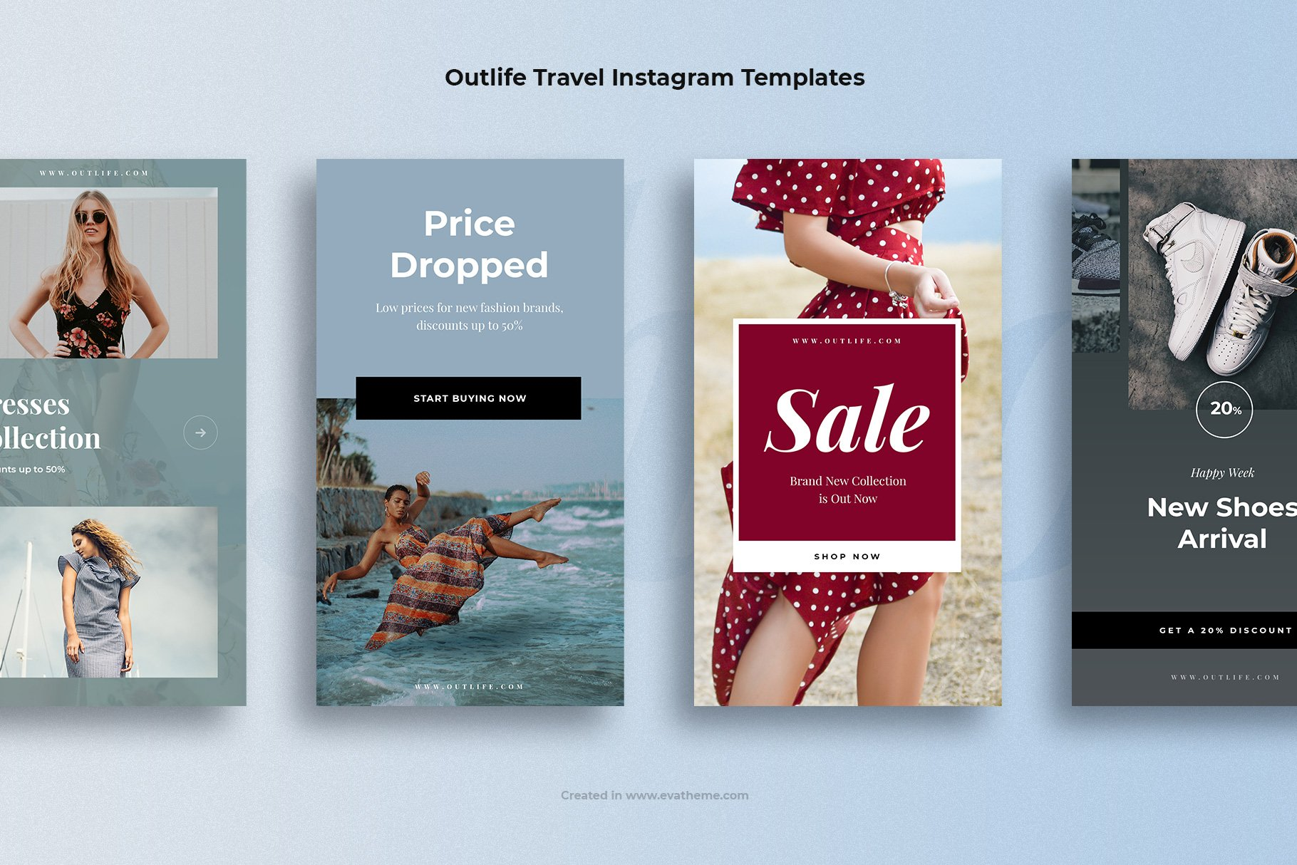 Outlife Fashion Instagram Templates example image 2