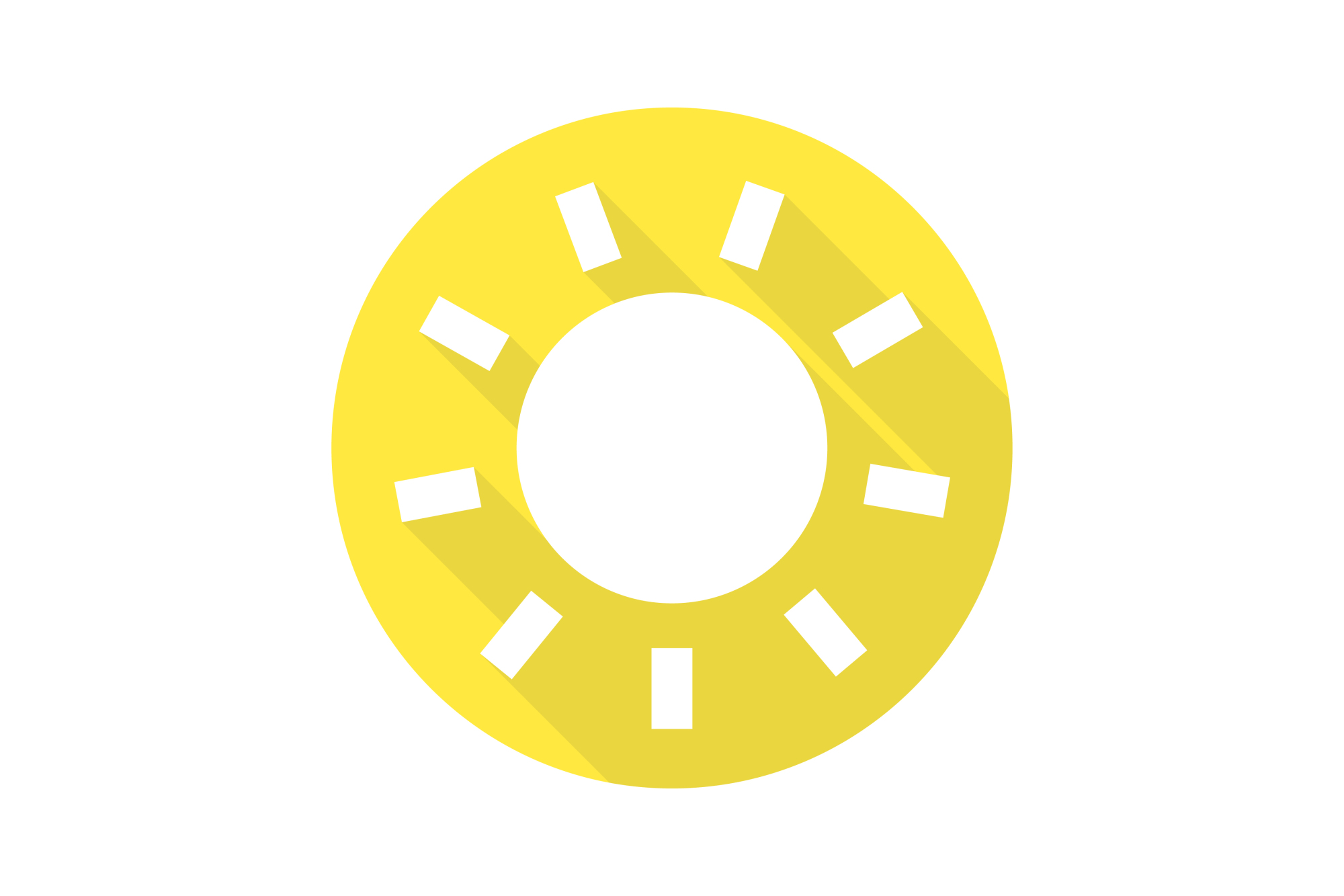 Vector sun icons set. Flat design. example image 4