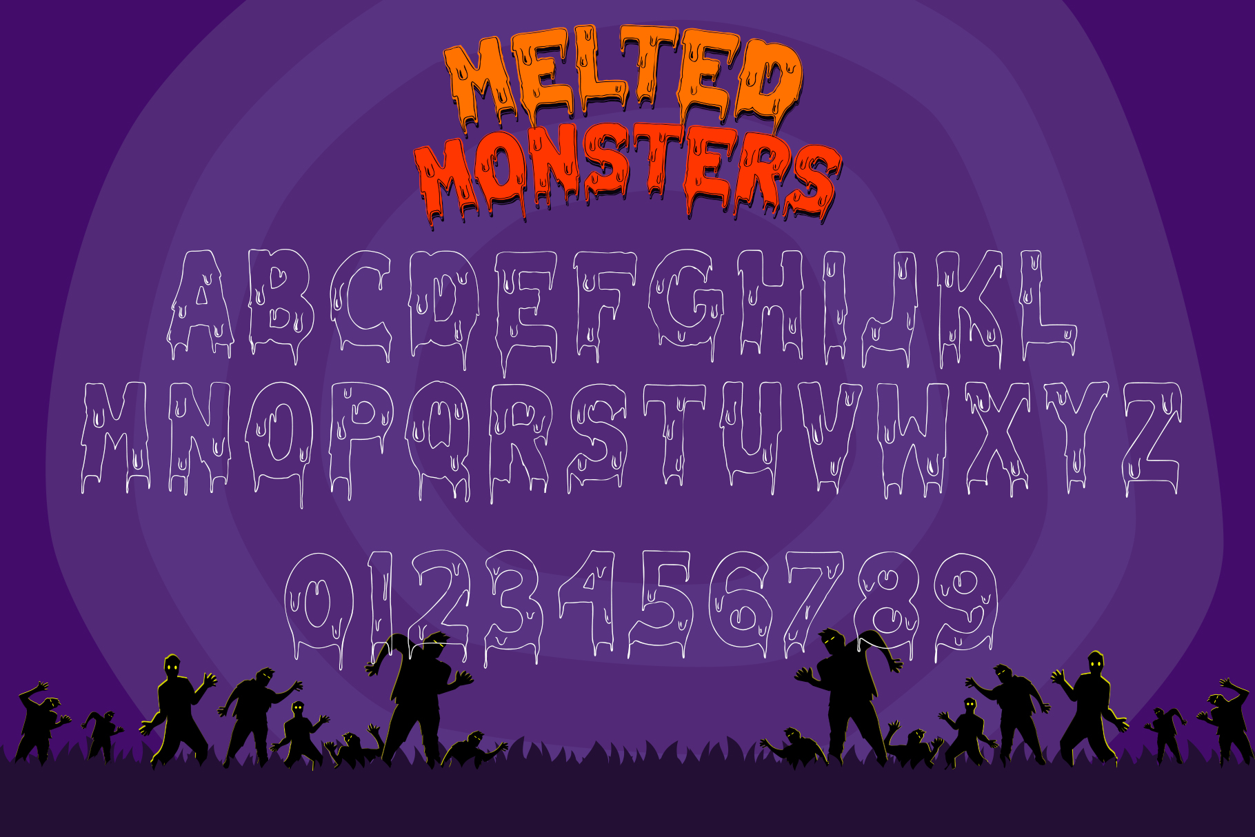 Melted Monster - Halloween Pack Layered Font example image 8