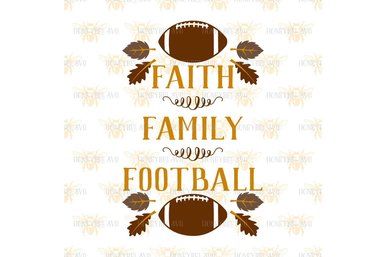 Faith Family Football svg example image 2