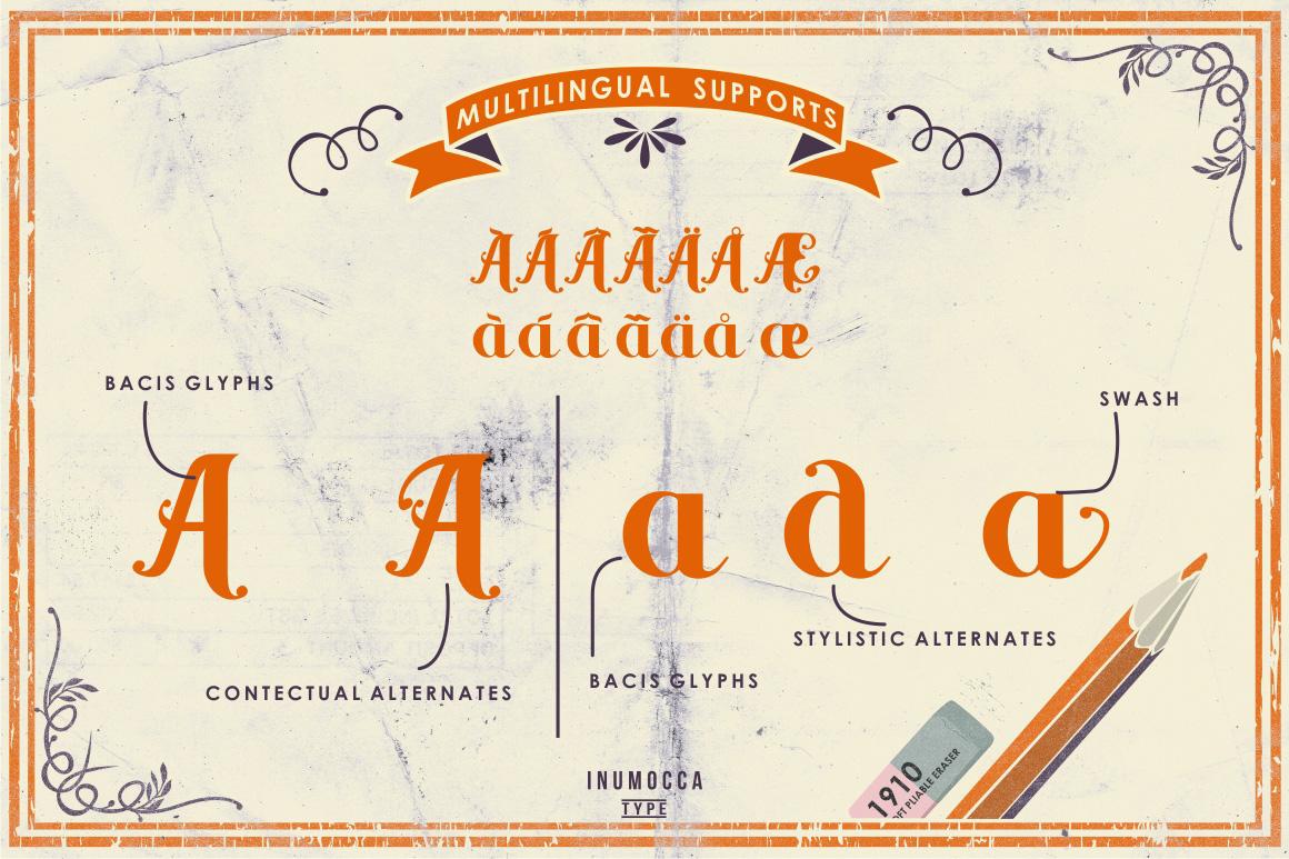 Yellow Orange Typeface + Bonus example image 2