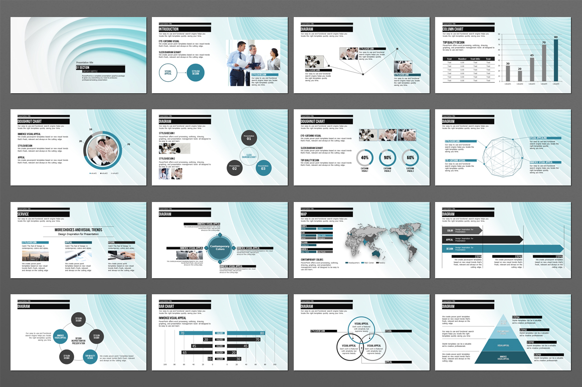 Abstract PowerPoint Template example image 2