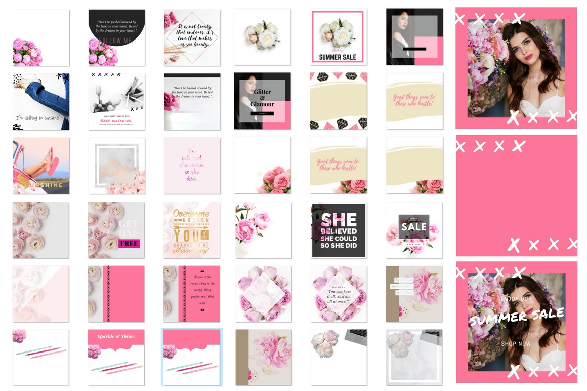 Instagram bundle Pink passion example image 2