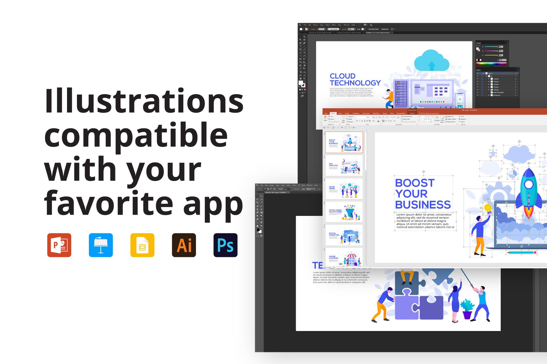 Flat animated illustrations example image 2