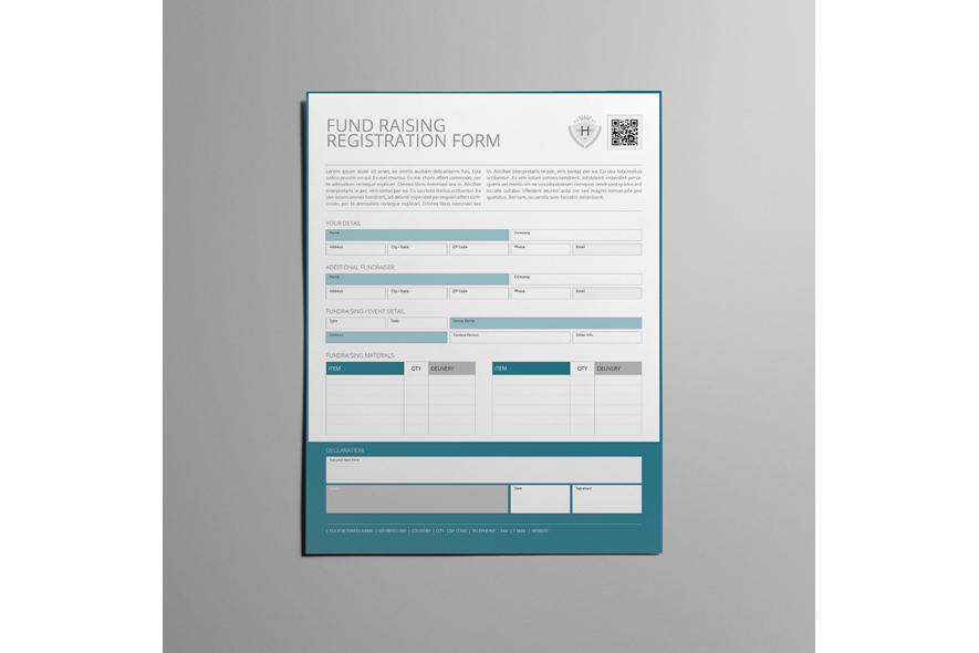 Fund Raising Registration US Letter Form example image 4