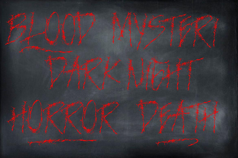 NIGHTMARE | HORROR & HELLOWEEN Font example image 6