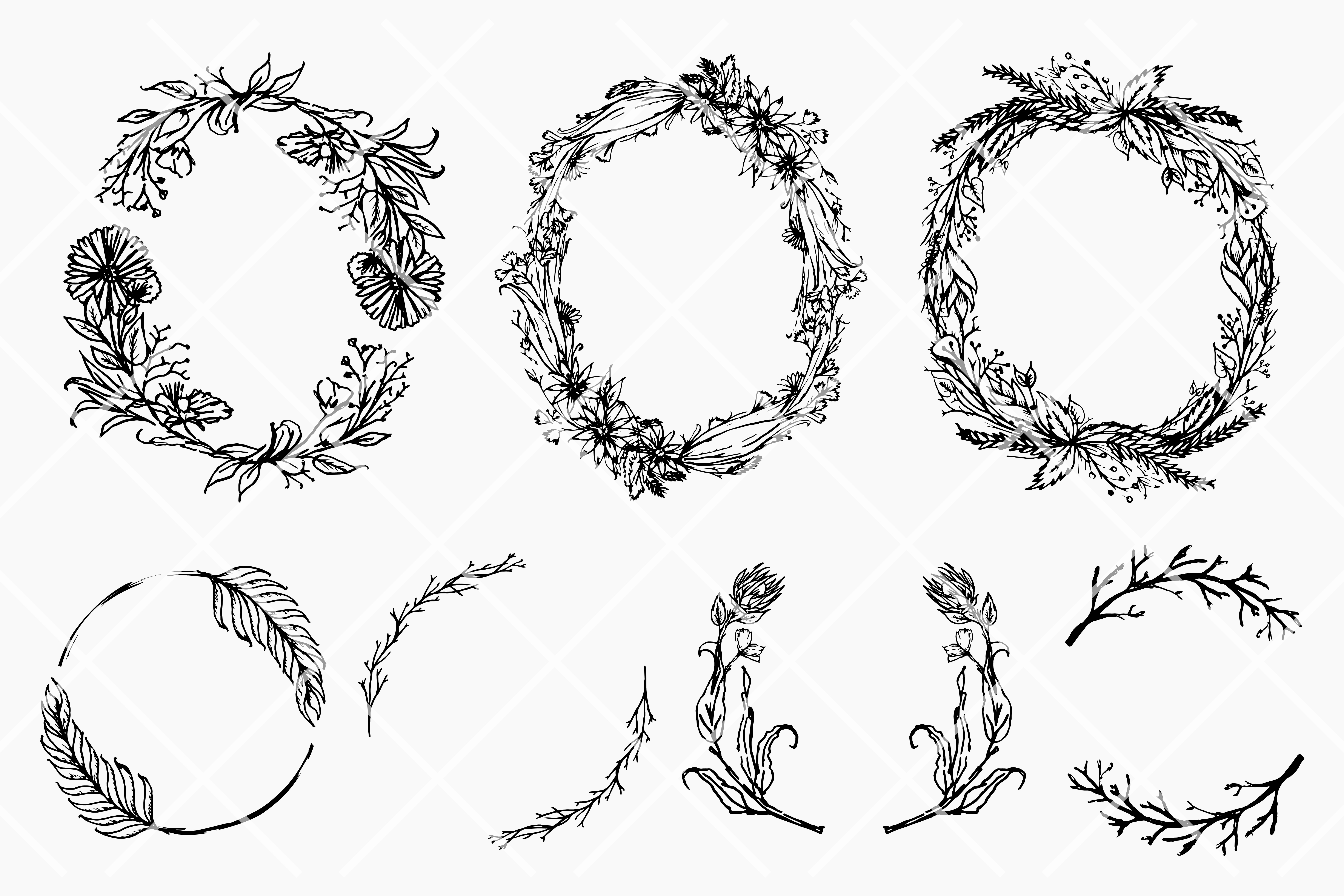 8 Floral wreath example image 2