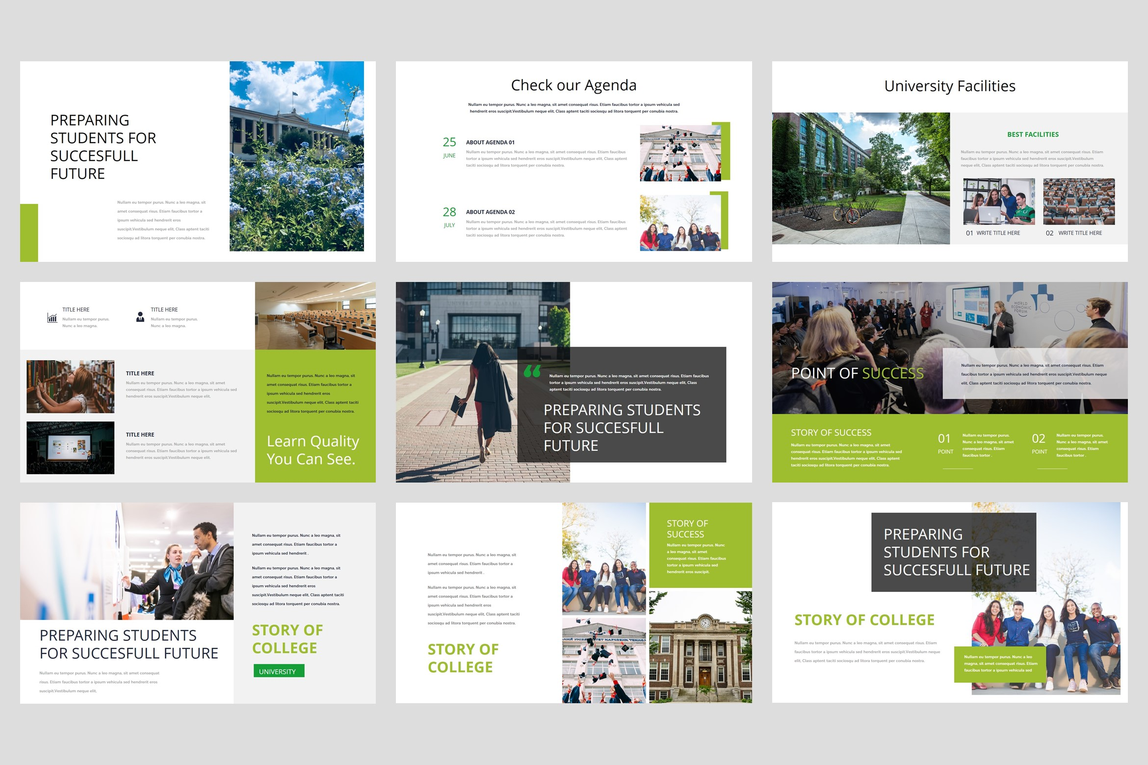 College - University PowerPoint Template example image 3