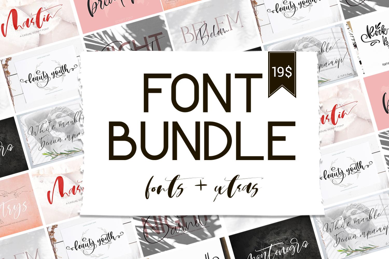 Font Bundle.Fonts & Extras example image 1