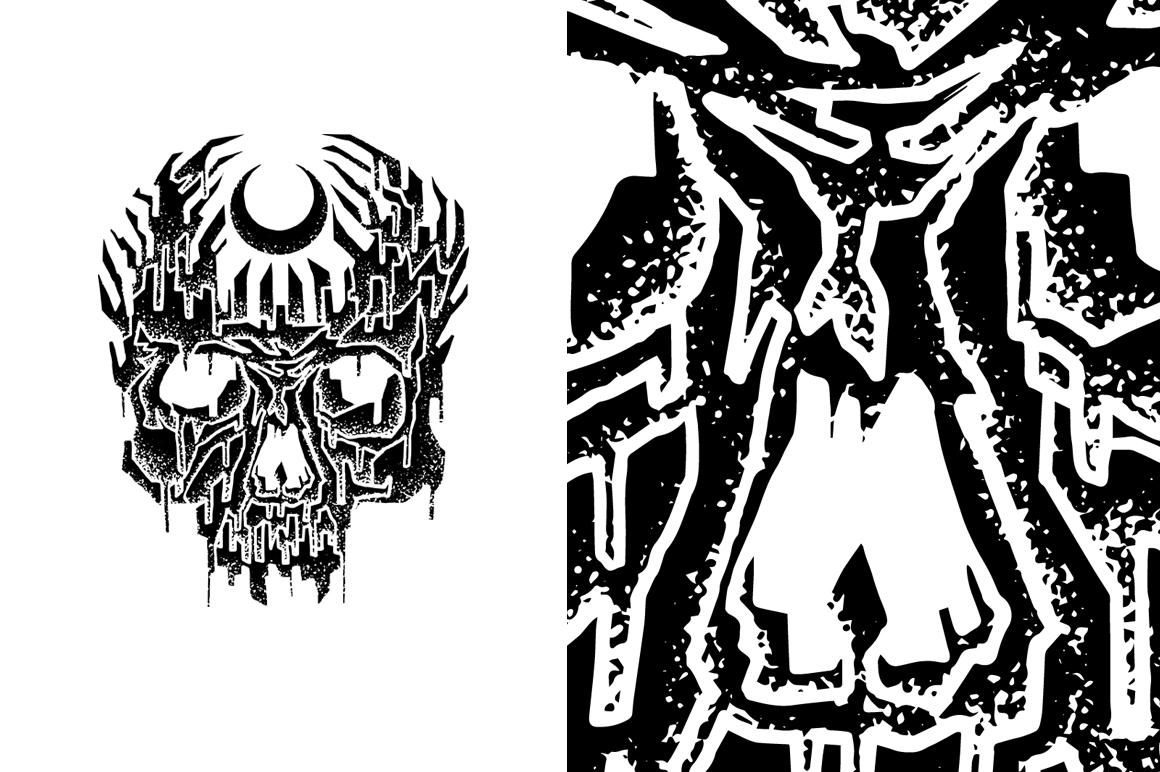 20 VECTOR skull illustration example image 8